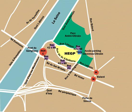 plan d'accès hôpital HEGP